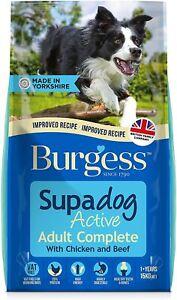 Burgess Supadog Active Dog Food British Chicken and Beef 15kg