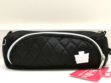 Caboodles Pencil Me In Case Cosmetic Bag Makeup Pouch Black Quilted New! NWT