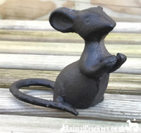 Solid cast iron 'Talking' mouse mice lover gift ornament sculpture decoration