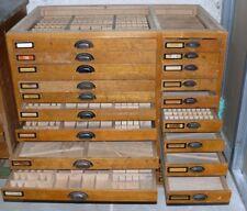 Setzkastenschrank Schubladenschrank Sortier Schrank Industrie Design Shabby