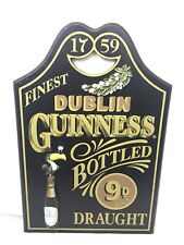 Guinness Wood Wall Pub 3D Sign Toucan Bottled on Draught Dublin 1759