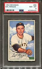 1952 Bowman #66 Sal Maglie PSA 8 +++ Looks Nicer New York Giants