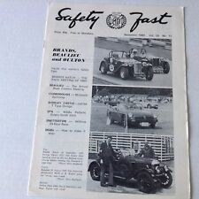 Safety Fast MG Car Club Magazine  Beaulieu And Oulton November 1980 070217nonrh