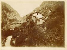 Italie, Un coin de la Vallée d'Aoste, ca.1900, vintage citrate print Vintag