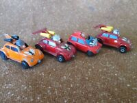 Vintage 1972 Lesney England Matchbox Superfast Flying Bug Beetle #11 #IV #14 LOT