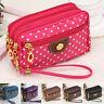 Women's Girl Wallet 4 Zippers Purse Credit Card Phone Key Holder Case Purse Bag