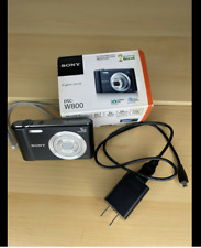 Sony Cyber-shot  DSC-W800 20.1 MP Digital Camera 5x Optical Zoom- Black
