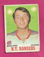 1970-71 OPC # 67 RANGERS BRAD PARK  ROOKIE GOOD  CARD (INV# D4040)