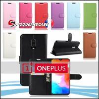 Coque Housse Etui Porte cartes Cuir PU Leather Wallet Case Cover OnePlus 6T