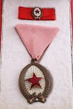 Hungary Hungarian Order of Labor Work Bronze III Box Mini Rivet Medal Soviet