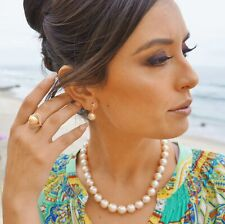 Golden South Sea 12mm AAA Pearl & Diamond Ring