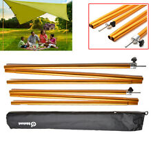 1 Pair Camping Awning Large Trail Tarp Shelter Adjustable Poles Aluminum Alloy