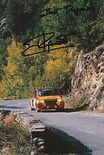 Jean Ragnotti foto firmada de mano 12x8 Renault Rally 11.