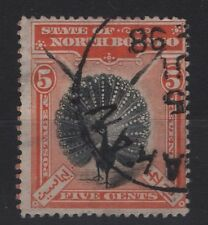 NORTH BORNEO  SG 100 orange-vermillion 5C BIRD 1897  Fine Used