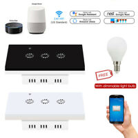 Smart Switch WiFi Light Timer Remote Controller for Alexa Google + Dimmable Bulb