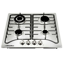 """New 23"""" Stainless Steel 4 Burners Built-In Stoves Natural Gas Kitchen Cooktops"""