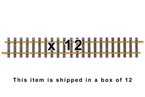 PIKO 35208 G600 STRAIGHT TRACK 600mm - (12) PIECES OF TRACK - G SCALE