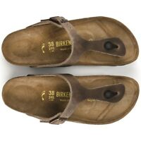 Birkenstock Gizeh Classic Sandals -  Leather - Tabacco Brown