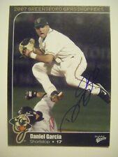 DANIEL GARCIA signed 2007 GREENSBORO baseball card AUTO Autographed LA PUENTE CA
