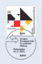 BRD 2002: Politische Bildung Nr. 2287 mit Bonner Ersttags-Sonderstempel! 1A!
