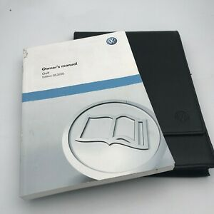 VW VOLKSWAGEN GOLF  OWNERS HANDBOOK MANUAL PACK 2008 To 2013