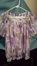 Alfred Dunner Women's Purple Top Size 14(B57)