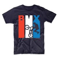 Vintage Retro 1970's Style Red White And Blue BMX T-Shirt