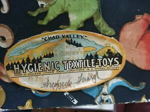 """ANTIQUE 1917 CHAD VALLEY DOLL HYGIENIC TEXTILE TOYS ENGLAND """" BOX """" Great Images"""