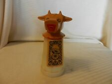 Vintage Moo Cow Creamer Plastic Bottle Whirley Ind. Brown Head With Daisys