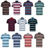 Mens Polo Shirt Striped Tee T Shirt Pique M - XXL New Golf Beach Fashion Summer