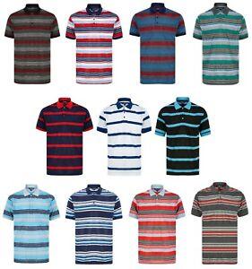 Mens Polo Shirt Striped Tee T Shirt Pique M - XXL New Golf Beach Fashion Summer
