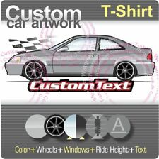 Custom T-shirt inspired on 96-00 Civic Coupe Si Dx not affiliated with HONDA