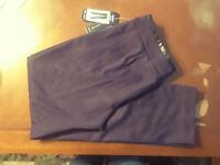 NEW Larry Levine Eggplant Pants Ankle Length Womens 6 NWT MSRP $60 Closet338