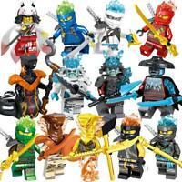 Figurine Ninja Héros Jay Cole Zane Lloyd Bloc de construction jouet enfants Noël