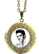 Elvis The King of Rock Glass Dome Locket Pendant Necklace