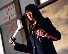 CHIAKI KURIYAMA KILL BILL RARE 8X10 SIGNED PHOTO 110
