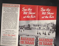 Railroads on Parade 1940 New York Worlds Fair Brochure See the Hit Show at Fair