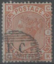 QV 1876 S.G. 156.....8 PENCE ORANGE PLATE 1 USED..S.G.2009 CAT VALUE 300 POUNDS