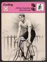 ARTHUR AUGUSTUS ZIMMERMAN New Jersey Racing Cycling 1978 SPORTSCASTER CARD 24-09