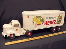 1950s MINNITOY (Otaco) HEINZ PICKLES Transport Truck Steel Toy