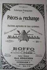 rare Pub Ad 1948 Machine agricole ROFFO Paris Copenhague