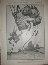 How Not to Do Things Balloonists Charles Crombie 1906 old cartoon print