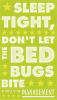 Sleep Tight Don't Let the Bedbugs Bite John Golden Print Poster Child Room 11x14