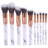10PCS Kabuki Make up Brushes Set Makeup Foundation Blusher Face Powder Brush NEW