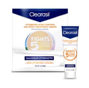 Clearasil Benzoyl Peroxide Stubborn Acne Spot Treatment Cream, 1 oz