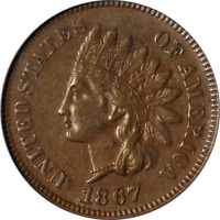 1867 Indian Cent PCGS AU50 Great Eye Appeal Nice Strike