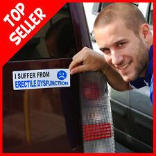 ERECTILE DYSFUNCTION  Funny Prank Car Magnet + 1 Million Bill Bonus