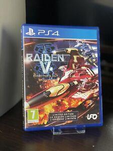 RAIDEN V DIRECTOR'S CUT - PS4 UK GAME & SOUNDTRACK CD Rare Shooter Arcade