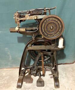 Pearson #6 Harness Leather Stitcher Sewing Machine British United Shoe Machinery