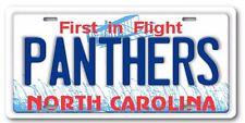 Carolina PANTHERS NFL NFC North Carolina State License Plate Tag New Blue Text